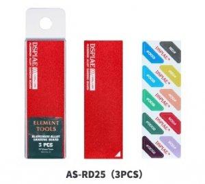 DSPIAE AS-RD25 ALUMINUM ALLOY SND BOARD RED 3PCS / Aluminiowa podkładka do papierów ściernych