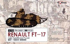 Flyhawk FH3001 Renault FT-17 Light Tank (Riveted turret) 1+1 1/72