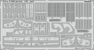 Eduard 32472 F-100C gun bay TRUMPETER 1/32