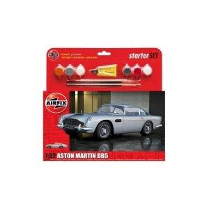 Airfix 50089B Aston Martin DB5 Medium Starter Set - zestaw modelarski 1/32