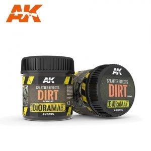 AK Interactive AK 8035 SPLATTER EFFECTS DIRT 100ml