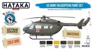 Hataka HTK-BS19 US Army Helicopters Paint Set (6x17ml)