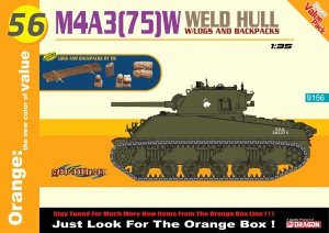 Cyber Hobby 9156 M4A3(75)W Weld Hull + Logs And Backpacks 1/35