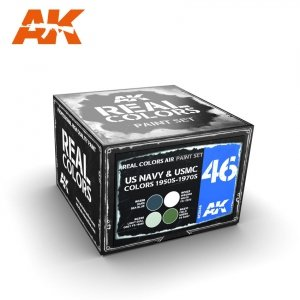 AK Interactive RCS046 US NAVY & USMC COLORS 1950S-1970S 4x10ml
