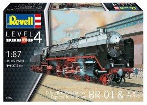 Revell 02172 Schwere Schnellzuglokomotive mit Tender 2'2 T32 BR 01 1/87