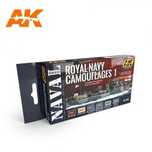 AK Interactive AK 5030 ROYAL NAVY CAMOUFLAGES 1 – NAVAL SERIES SET 6x17ml