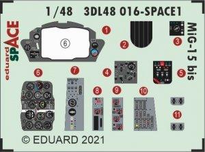 Eduard 3DL48016 MiG-15bis SPACE BRONCO / HOBBY 2000 1/48
