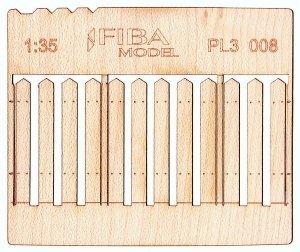 Model scene PL3-008 Wooden fence type 8 Drewniany płot 1/35
