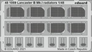 Eduard 481059 Lancaster B Mk.I radiators HK Models 1/48