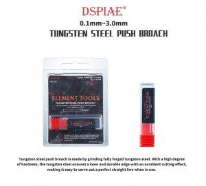 DSPIAE PB-05 0.5mm Tungsten Steel Push Broach / Rysik ze stali wolframowej