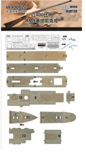 Wood Hunter W40002 Wood Deck RMS Titanic (for Academy) 1/400