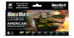 Vallejo 70220 WWIII American Armour & Infantry 8x17ml