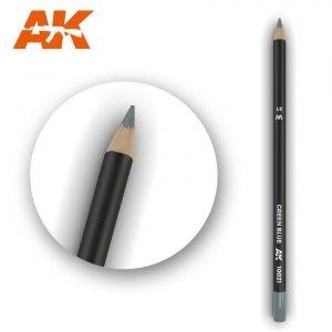 AK Interactive AK 10021 Watercolor Pencil GREEN BLUE
