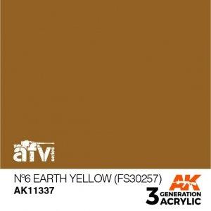 AK-Interactive AK 11337 Nº6 Earth Yellow (FS30257) 17ml