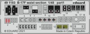 Eduard 491183 B-17F waist section HKM 1/48