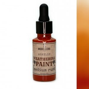 Modellers World MWE010 Weathering paint: Medium rust 30 ml
