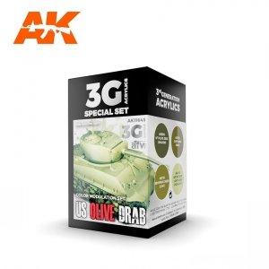 AK Interactive AK 11643 US OLIVE DRAB MODULATION SET SET 4x17 ml