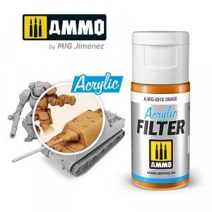 Ammo of Mig 0818 ACRYLIC FILTER Orange 15 ml