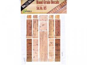 Das Werk DWA001 Wood Grain Decals for Das Werk DW35003 1/35