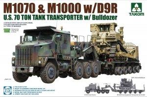 Takom 5002 U.S. M1070 & M1000 w/D9R U.S. 70 Ton Tank Transporter w/Bulldozer 1:72