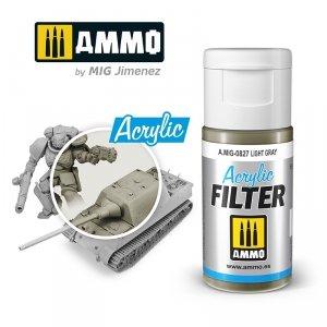 Ammo of Mig 0827 ACRYLIC FILTER Light Gray 15 ml