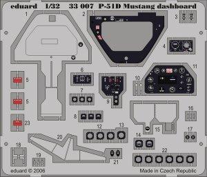 Eduard 33007 P-51D dashboard  HASEGAWA 1/32