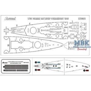 FlyHawk Model FH710101 Scharnhorst 1940 Wooden Deck (Flyhawk FH1147) 1/700