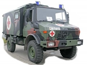 Ace 72451 Unimog U1300L 4x4 Krankenwagen Ambulance1/72