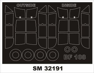 Montex SM32191 Messerschmitt Bf-108 Taifun 1/32