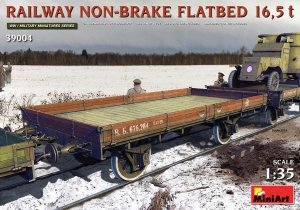 MiniArt 39004 RAILWAY NON-BRAKE FLATBED 16,5 t 1/35