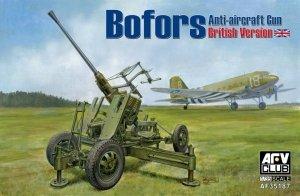 AFV Club 35187 Bofors 40mm Mk III Anti Aircraft Gun (British Version) (1:35)