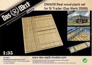 Das Werk DWA019 Real wood plank set 5t Trailer 1/35