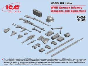 ICM 35638 WWII German Infantry Weapons & Equipment 1/35