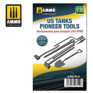 Ammo of Mig 8112 US WWII Tank Pioneer Tools 1/35