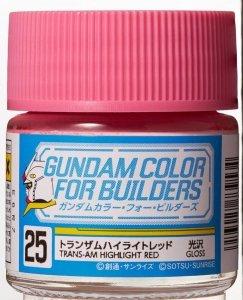Gunze Sangyo UG-25 TRANS-AM Highlight Red 10 ml (Gloss)