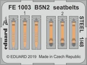 Eduard FE1003 B5N2 seatbelts STEEL HASEGAWA 1/48