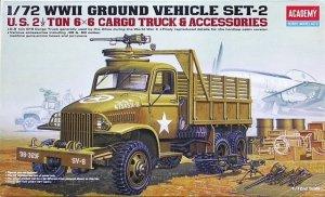 Academy 13402 U.S. 2 1/2 Ton 6x6 Cargo Truck /Accessories 1/72