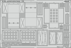 Eduard 36429 Hummel ammo boxes 1/35 TAMIYA