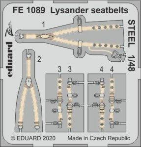 Eduard FE1089 Lysander seatbelts STEEL 1/48 EDUARD