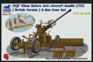 Bronco CB35111SP OQF Bofors 40mm Anti-Aircraft Gun Mk. I/III British Army Gun Crew Set 1/35
