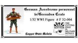 Copper State Models F32-004 German aerodrome personnel with grenades crate 1:32