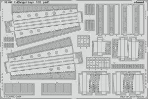 Eduard 32467 P-40M gun bays TRUMPETER 1/32