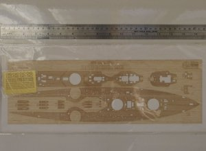 Wood Hunter W35071 HMS Dreadnought 1915 wooden deck for TRUMPETER 05329 1/350