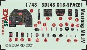 Eduard 3DL48018 Mustang Mk.IV SPACE EDUARD 1/48