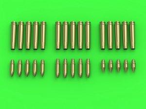 Master GM-35-019 Niemiecka amunicja 2cm (cal. 20x138B) do działka Flak 30/38, KwK 30/38 - łuski (15 szt.) i 3 rodzaje pocisków (po 5 szt. każdego rodzaju) (1:35)