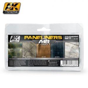 AK Interactive AK 2070 Paneliners weathering set combo 5x35ml