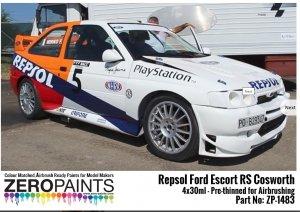 Zero Paints ZP-1483 Repsol Ford Escort RS Cosworth Paint Set 4x30ml