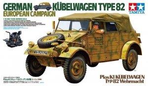 Tamiya 36205 German Kubelwagen Type 82 European Campaign 1/16
