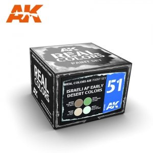 AK Interactive RCS051 ISRAELI AF EARLY DESERT COLORS 4x10ml