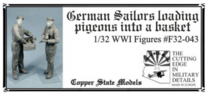 Copper State Models F32-043 German Sailors with Pigeons 1/32